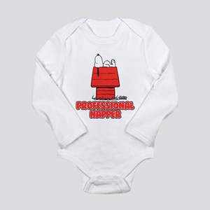 Snoopy Black and White Long Sleeve Infant Bodysuit