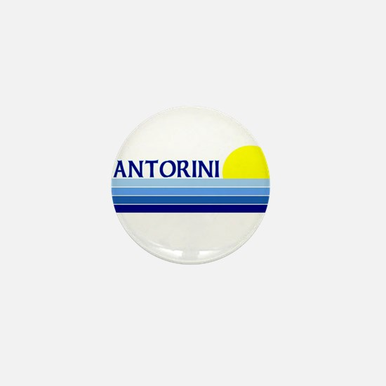 Santorini, Greece Mini Button