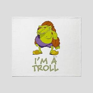I'm a Troll Throw Blanket