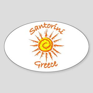 Santorini, Greece Oval Sticker