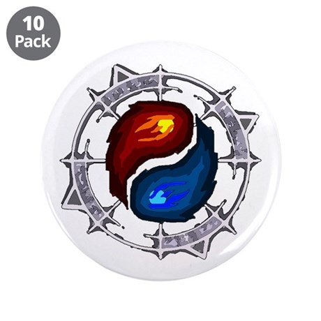 """Fire, Ice and Arcane 3.5"""" Button (10 pack)"""