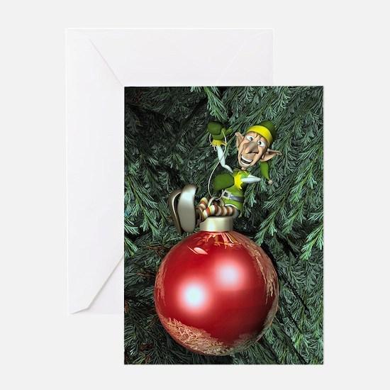 Elf Ornament Greeting Card