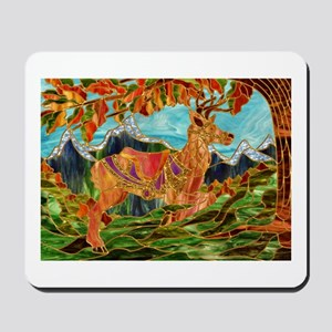 Carousel Deer Mousepad