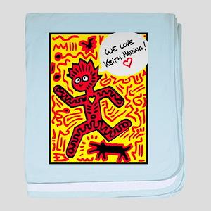We love Keith Haring baby blanket