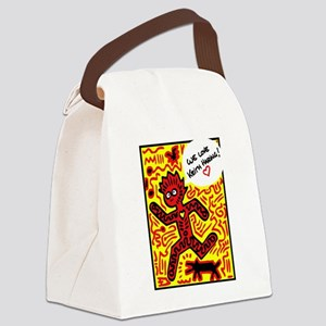 We love Keith Haring Canvas Lunch Bag