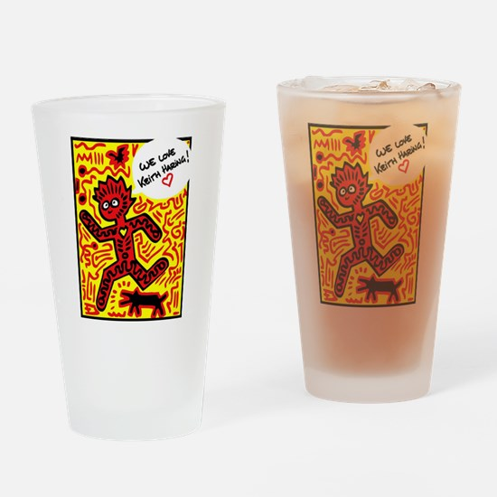 We love Keith Haring Drinking Glass