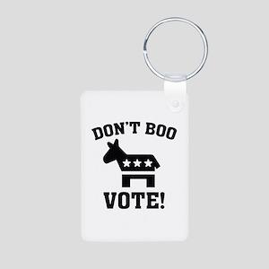 Don't Boo Vote! Aluminum Photo Keychain
