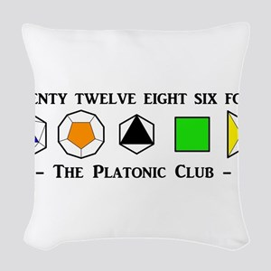 The Platonic Club Woven Throw Pillow