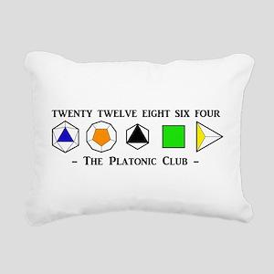 The Platonic Club Rectangular Canvas Pillow
