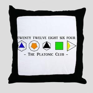 The Platonic Club Throw Pillow
