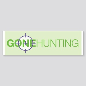 Gone Hunting Sticker (Bumper)