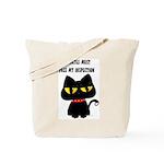Tote Bag Cat inspector