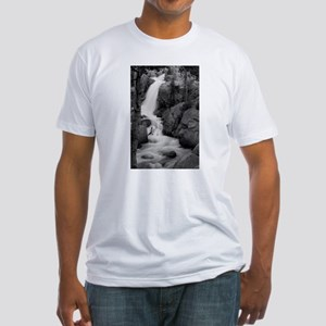 Alberta Falls 1 B&W Fitted T-Shirt
