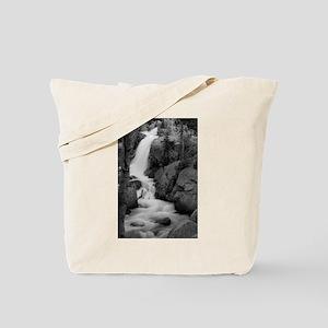 Alberta Falls 1 B&W Tote Bag