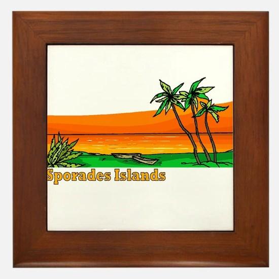 Sporades Islands, Greece Framed Tile