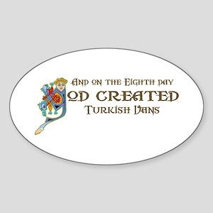 God Created Vans Oval Sticker