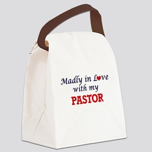 Madly in love with my Pastor Canvas Lunch Bag