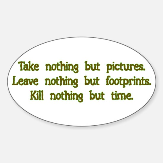 Pictures, Footprints Rectangle Decal