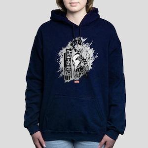 Punisher Side Profile Women's Hooded Sweatshirt