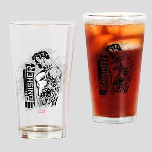 Punisher Side Profile Drinking Glass