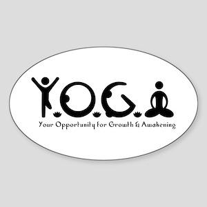 Y-O-G-A Oval Sticker