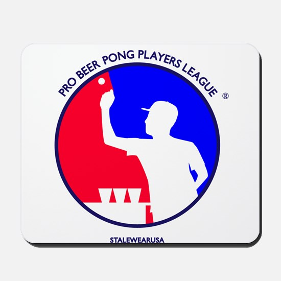 Pro Beer Pong Players Logo Mousepad