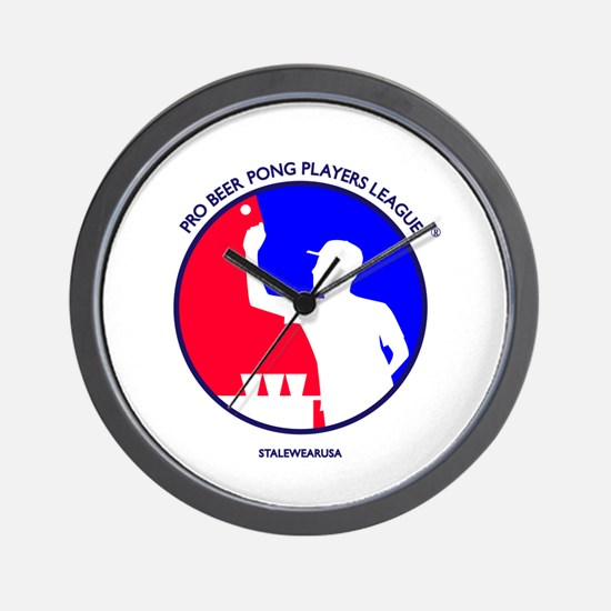 Pro Beer Pong Players Logo Wall Clock