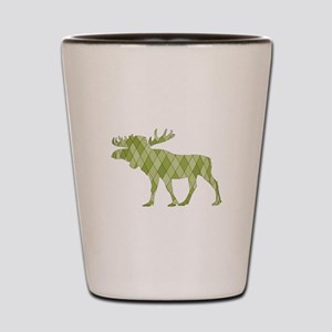 Green Moose Shot Glass