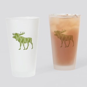 Green Moose Drinking Glass