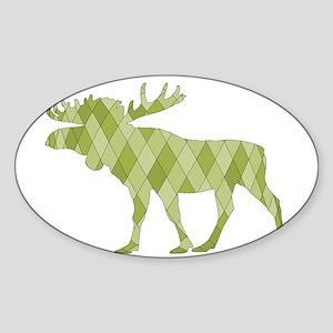 Green Moose Sticker