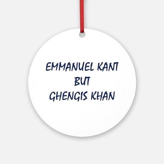 EMMANUEL KANT Round Ornament