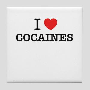 I Love COCAINES Tile Coaster