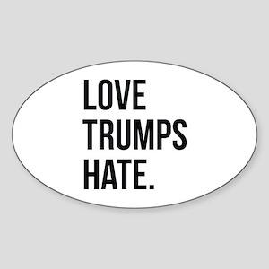 Love Trumps Hate Sticker (Oval)