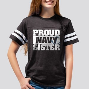 Proud Navy Sister Youth Football Shirt