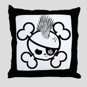 Punkin Pirate -bw Throw Pillow