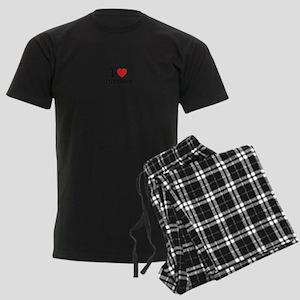 I Love UNITARY Men's Dark Pajamas