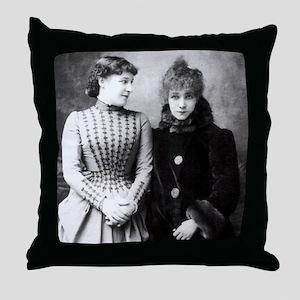 Lily Langtree & Sarah Bernhardt Throw Pillow