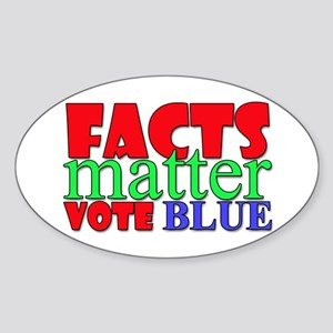 Facts Matter Vote Blue Sticker
