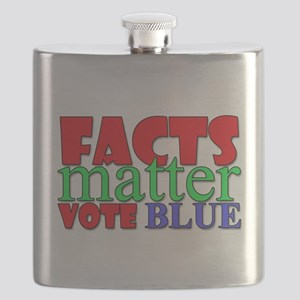 Facts Matter Vote Blue Flask