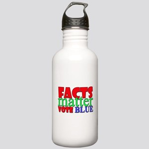 Facts Matter Vote Blue Water Bottle