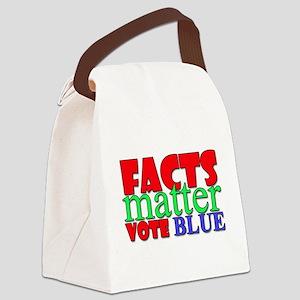 Facts Matter Vote Blue Canvas Lunch Bag