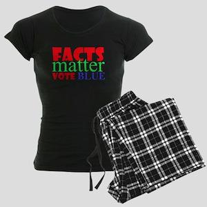 Facts Matter Vote Blue Pajamas