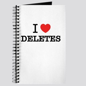 I Love DELETES Journal