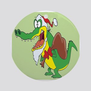 Christmas Crocodile Ornament (Round)