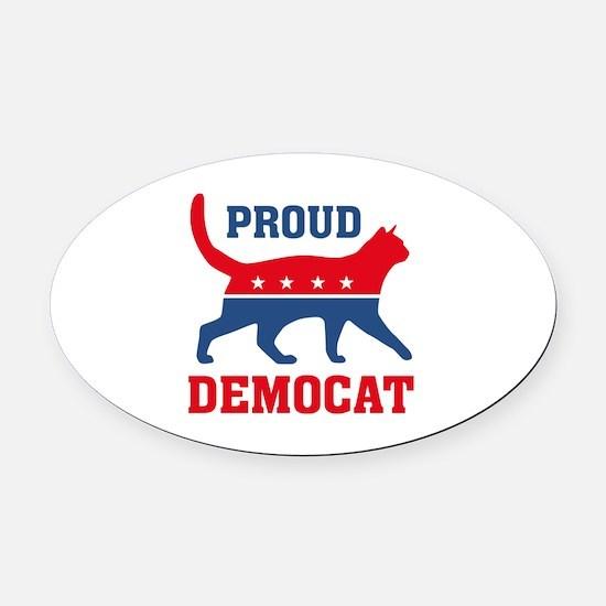 Proud Democat Oval Car Magnet