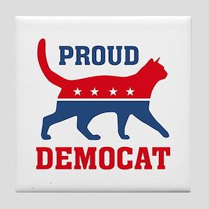 Proud Democat Tile Coaster