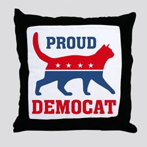 Proud Democat Throw Pillow