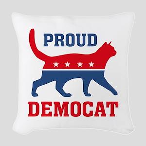 Proud Democat Woven Throw Pillow