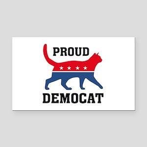 Proud Democat Rectangle Car Magnet