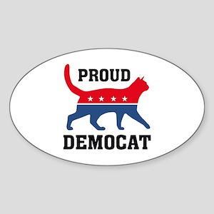 Proud Democat Sticker (Oval)
